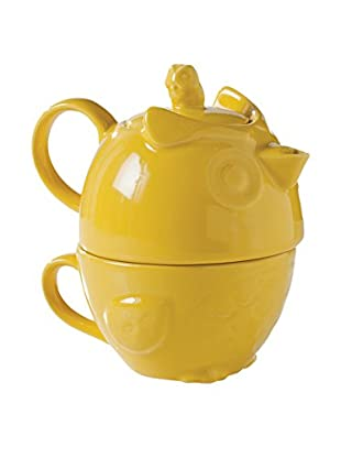 Torre & Tagus Hoot Owl Tea for One Set, Yellow