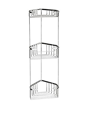 Nameek's Wire Corner Shelf With 3 Baskets, Chrome