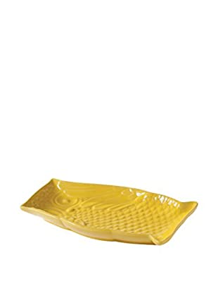 Torre & Tagus Hoot Owl Plate, Yellow