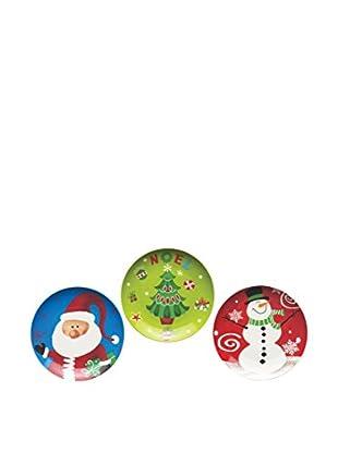 Merry Christmas Set 3 Piezas Plato Panettone