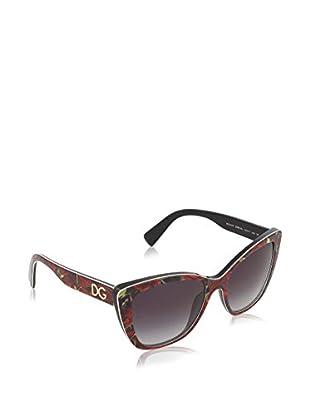 Dolce & Gabbana Sonnenbrille 4216 (55 mm) rot/schwarz