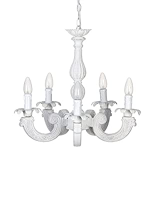 Romantic Style Lámpara De Suspensión Blanco