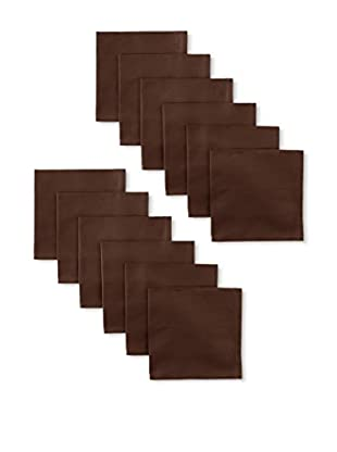 Garnier-Thiebaut Set of 12 Confetti Napkins, Cacao