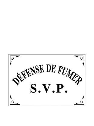 Bonnecaze Absinthe & Cuisine Defense de Fumer Enamel Metal Plaque