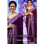 Shree Devi Purple Heavy Embroidered Kora Silk Saree