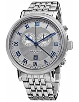 Akribos Chronograph Silver Dial Stainless Steel Mens Watch Ak590Ss