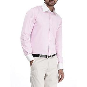 Genesis Pink Striped Men Shirt - 11GCSH26184