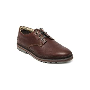 CAT Men Dark Brown Cormac Leather Casual Shoes