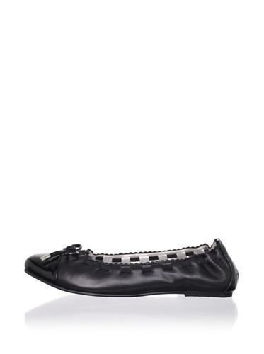 Adone Vitali by J. Loren Kid's Linda Dress Shoe (Black)
