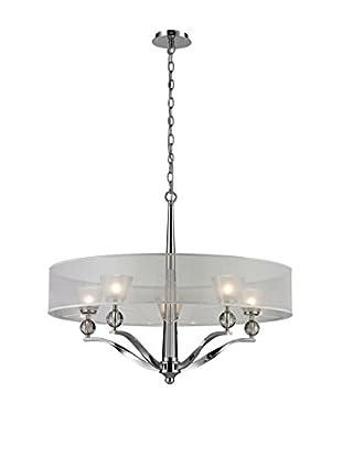 Artistic Lighting Chandelier, Polished Nickel