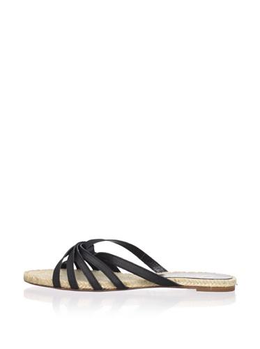 Delman Women's Blair Flat Sandal (Black)