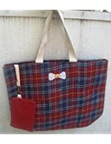 Cute Jute Scottish Check Shopper