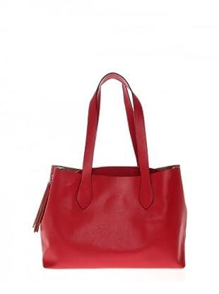 Elysa Tote-Bag mit Quaste (Rot)