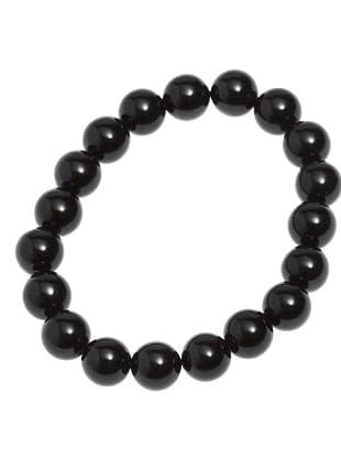 Luxenter Pulsera L00PPO de piedras naturales para charms negra