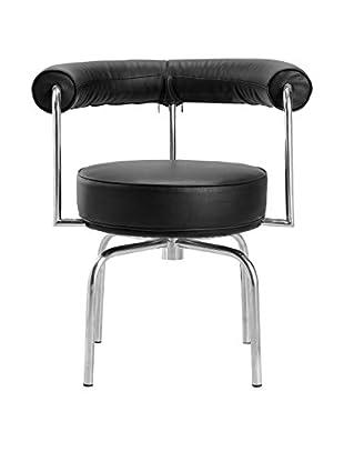 Manhattan Living Swivel Armchair, Black