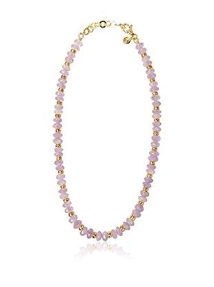 ETRUSCA Halskette  goldfarben/rosa