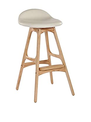 Aeon Euro Home Collection Torbin-1 Counter Stool, Ivory/Ash