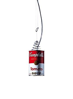 Ingo Maurer Pendelleuchte Canned Light weiß/rot Ø8,5 H max 200 cm