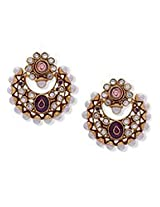 Flattering Pink Polki Earrings