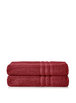 Chortex of England Irvington 2-Piece Bath Sheet Set, Burgundy