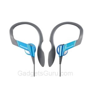 Panasonic Sports Gym Earphone Headphone for iPods~ MP3-RP-HS33E (Blue)