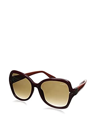 Lanvin Women's SLN594 Sunglasses, Burgundy/Orange