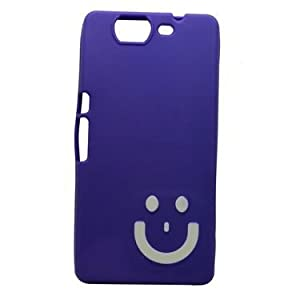 Snooky Purple Smiley Back Case Cover For Micromax Canvas Knight A350 Td11461