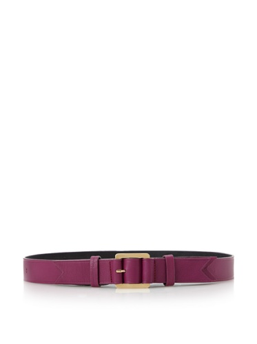 Meredith Wendell Women's Embossed Leather Belt (Fuchsia)