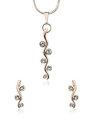 Annie Ram Set Halskette und Ohrringe rosévergoldet