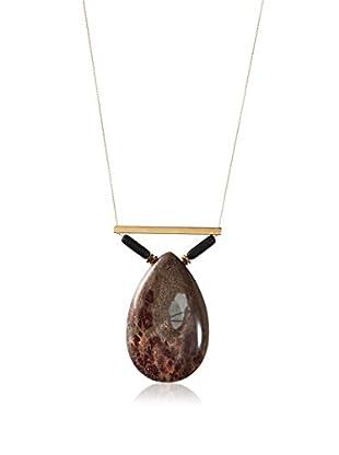 David Aubrey Agate Pendant Necklace