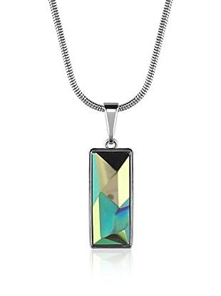 Absolute Crystals Set Kette und Anhänger Kaputt Baguette türkisgrün