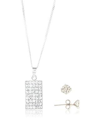 Silver One Juego Square Diamantado