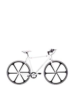 Schiano Fahrrad 28 Fixed Fly 56 Telaio Bianco Ruote Nere weiß/schwarz