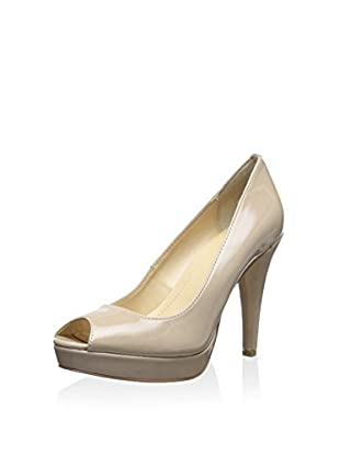Calvin Klein Women's Sandie Open Toe Pump (Adobe)