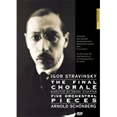 DVD Stravinsky : Final Chorale&Schoenberg:Five Orchestral Piecesの商品写真