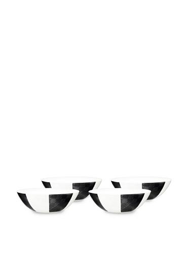 Noritake Everyday Elegance Set of 4 Zinc2 Cereal/Soup Bowls (White/Black)