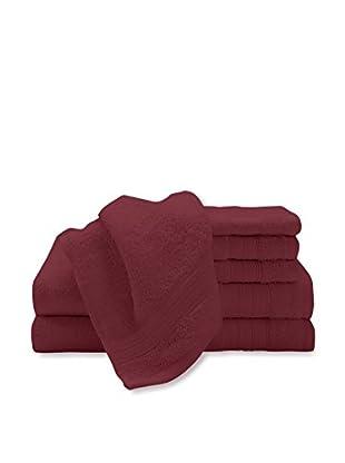 Luxury Home 6-Piece Super Plush Egyptian Cotton Towel Set, Red