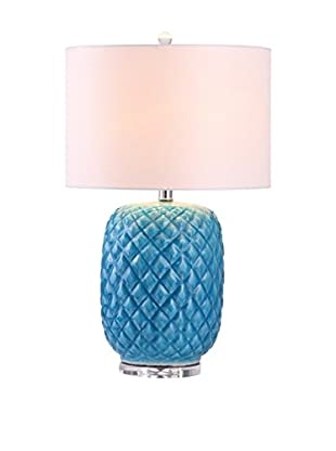 Safavieh Chaney Table Lamp, White/Blue