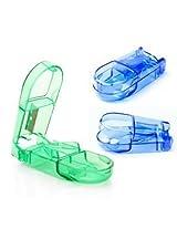 Ezy Plastic Tablet Cutter (Green, 9 cm x 4 cm x 2 cm)