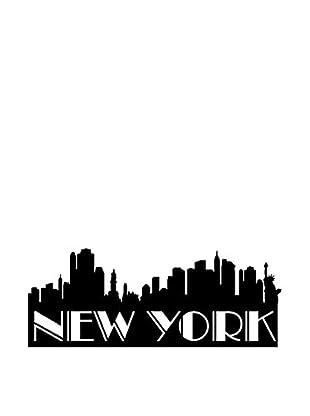 Ambiance Live Wandtattoo New york landscape schwarz