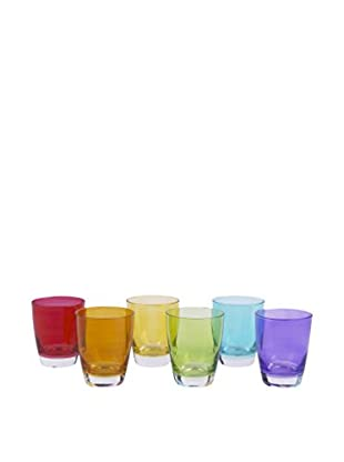 Soul Kitchen Glas 6er Set Happy Colour mehrfarbig