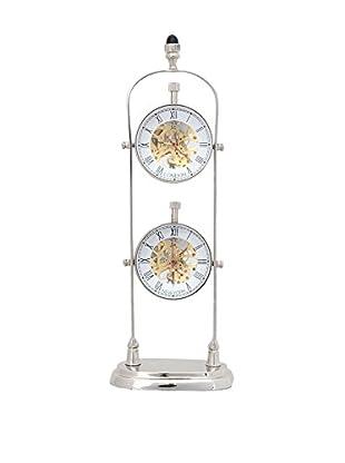 Old Modern Handicrafts, Inc. Brass Double-Dial Clock