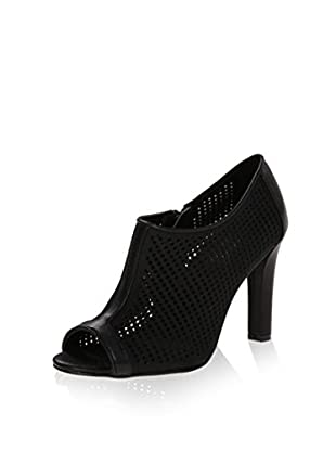 Calvin Klein Women's Kallie Shoe Bootie (Black Nubuck/Cow Kansas)