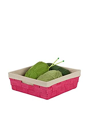 Honey-Can-Do Paper Rope Tray with Liner, Pink