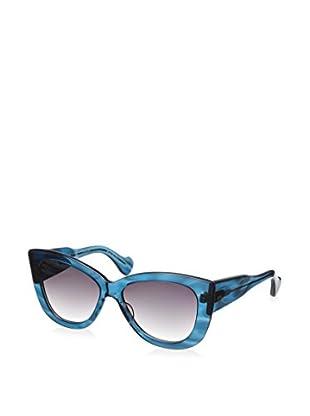 DITA Women's 22006D-58 Vesoul Sunglasses, Light Blue Swirl