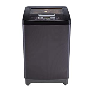 LG 8 Kg T90BKF21P Top Loading Fully Automatic Washing Machine-Black Knight