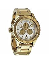 Nixon 42-20 Chronograph Champagne Dial Gold-Tone Mens Watch A037-1219