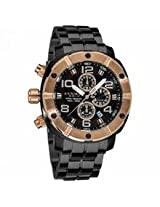 Akribos Conqueror Chronograph Black Pvd Mens Watch Ak576Rg