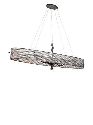 Varaluz Treefold 6-Light Linear Pendant, Steel