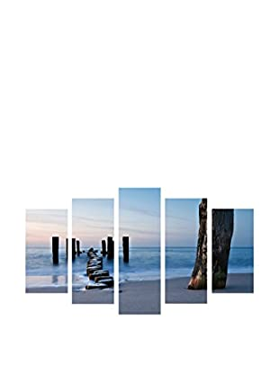 LO+DEMODA Leinwandbild 5 tlg. Set Walk Sea